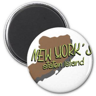 Newyork's Island 2 Inch Round Magnet