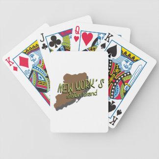 Newyork's Island Bicycle Playing Cards