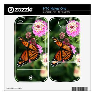 Nexo de HTC de la mariposa de monarca una piel Calcomanías Para HTC Nexus One