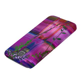 Nexo púrpura Barely There de la galaxia de Samsung Fundas Para Galaxy S5