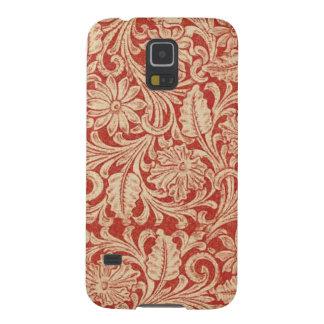 Nexo rojo floral de la galaxia de Samsung del Carcasas Para Galaxy S5