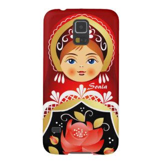Nexo ruso Ca de Samsung de la muñeca de Babushka Funda Galaxy S5