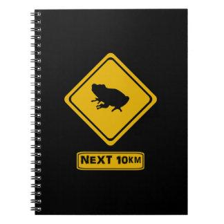 next 10 km frogs notebook