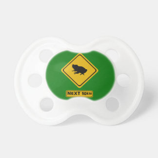 next 10 km frogs road sign BooginHead pacifier