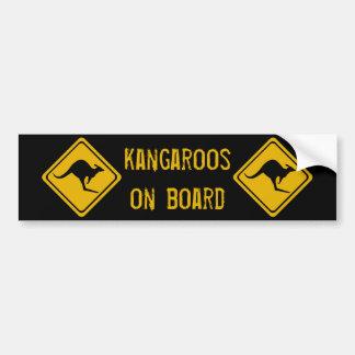 next 10 km kangaroos bumper sticker