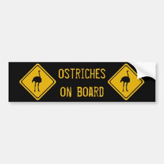 next 10 km ostriches bumper sticker