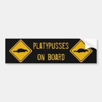 next 10 km platypusses bumper sticker