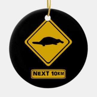 next 10 km platypusses ceramic ornament