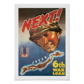 Next! 6th War Loan (white) Poster