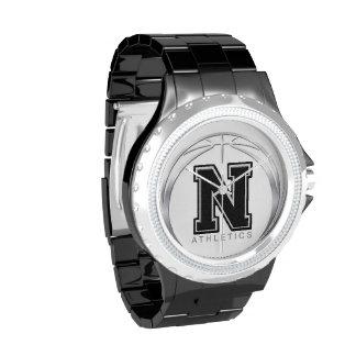 NEXT Athletics Rhinestone with Black Enamel Men's Watches