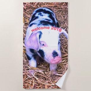 Next Cute Piglet Beach Towel