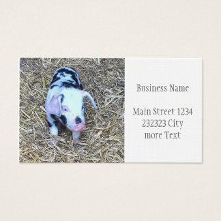 next cute piglet business card