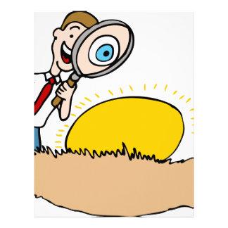 Next Egg Inspection Man Cartoon Letterhead