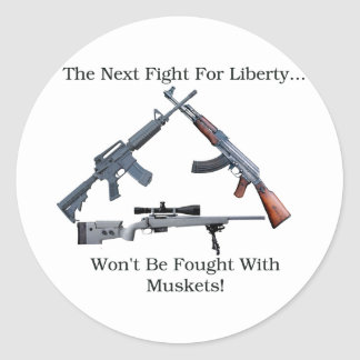 Next Fight For Freedom Classic Round Sticker