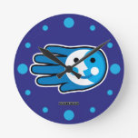 Hand shaped Next Full Moon Round Clock