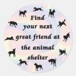 Next Great Friend Round Stickers