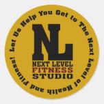 Next Level Fitness Studio Emblem3 Classic Round Sticker