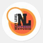 Next Level Fitness Studio Emblem 2 Classic Round Sticker