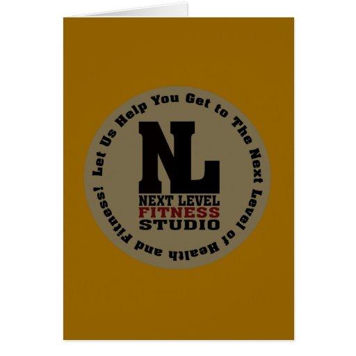 Next Level Fitness Studio Emblem Greeting Card