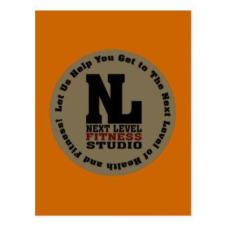 Next Level Fitness Studio Emblem Postcard