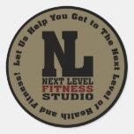 Next Level Fitness Studio Emblem Classic Round Sticker