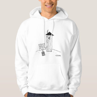 Next Outhouse 22 Miles            Outhouse Cartoon Hoodie