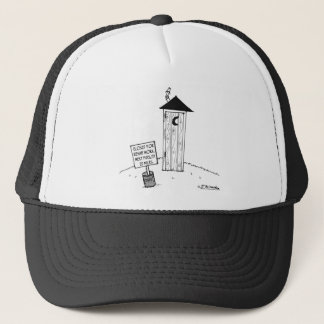 Next Outhouse 22 Miles            Outhouse Cartoon Trucker Hat