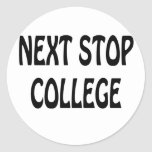 Next Stop College Sticker