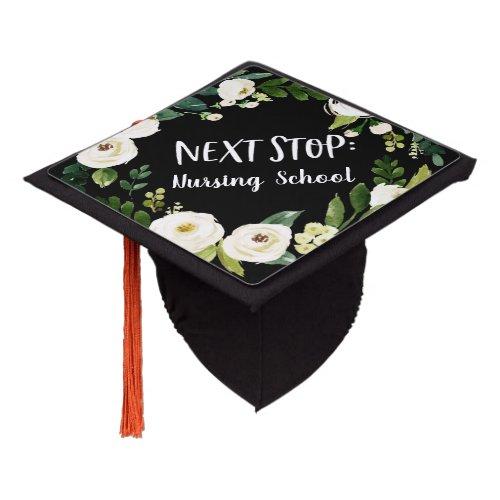 Next Stop  Floral Graduation Cap
