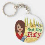 Next Stop Italy Logo Key Chain