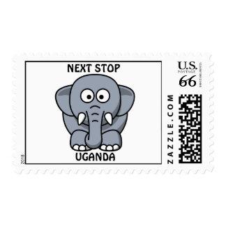 NEXT STOP UGANDA Elephant Postage Stamps