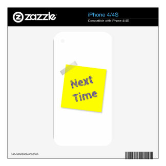 Next time skins for iPhone 4