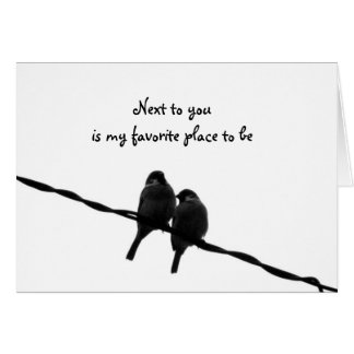 Next To You-My Favorite Place Valentine's Day Card