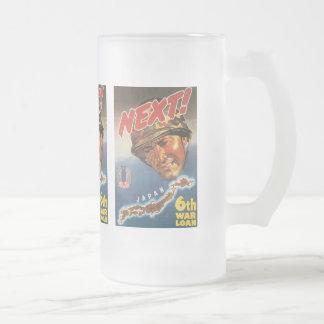 Next World War 2 Frosted Glass Beer Mug