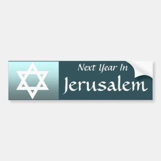 Next Year In Jerusalem Bumper Stickers