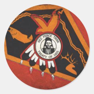 Nez Perce Flag Classic Round Sticker
