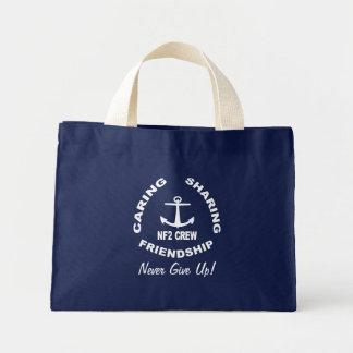 NF2Crew Logo in White Mini Tote Bag