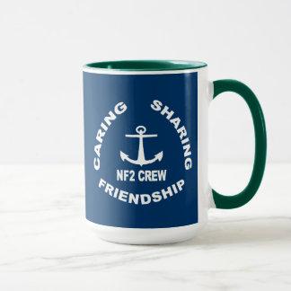 NF2Crew Logo in White Mug