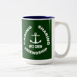 NF2Crew Logo in White Two-Tone Coffee Mug