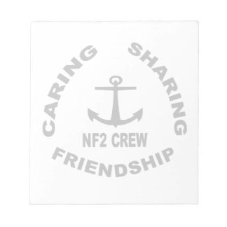 NF2Crew Notepad Logo in Black