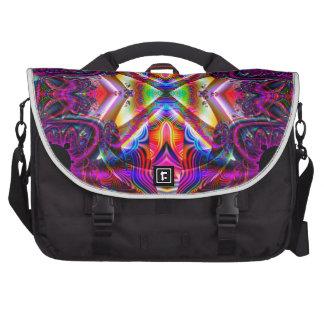 NF314 Fractal Art Design Laptop Messenger Bag