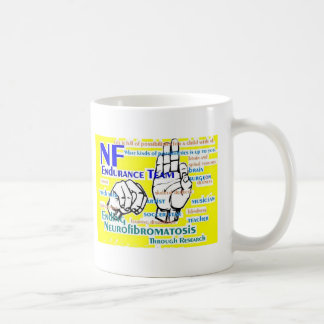 nf endurance team design in yellow classic white coffee mug