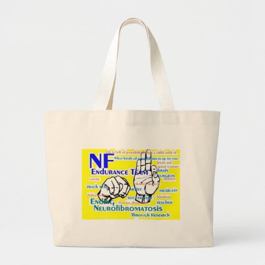 nf endurance team design in yellow large tote bag