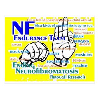 nf endurance team design in yellow postcard