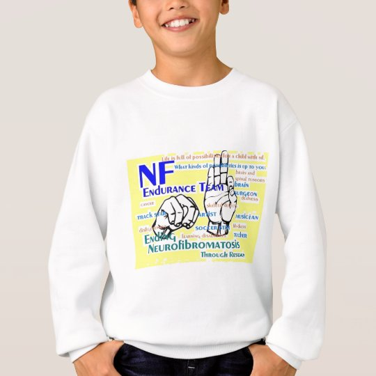 nf endurance team design in yellow sweatshirt