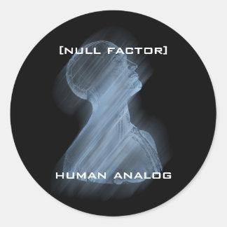 [nf] Human Analog Round Sticker