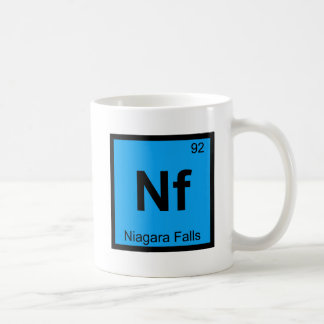 Nf - Niagara Falls New York Chemistry Symbol Coffee Mug