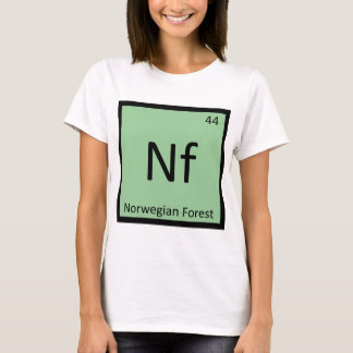 Nf - Norwegian Forest Cat Chemistry Element Symbol T-Shirt