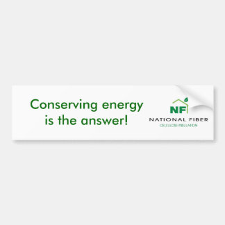 NFCelluloseLogo, Conserving energy is the answer! Car Bumper Sticker