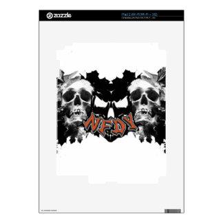 NFDY Tri-Skull Skin For iPad 2